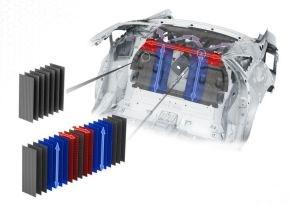 Voith Composites carbon fiber composite Audi A8 rear wall