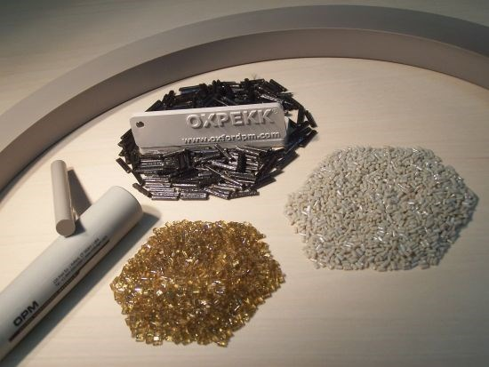 Oxford Performance Materials OXPEKK rod and pellet products