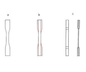 Composite tensile specimen design