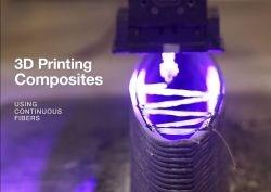 Continuous Composites 3D printing continuous glass fiber truss sensing rudder