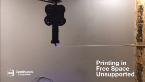 Continuous Composites continuous fiber 3D printing unsupported in free space