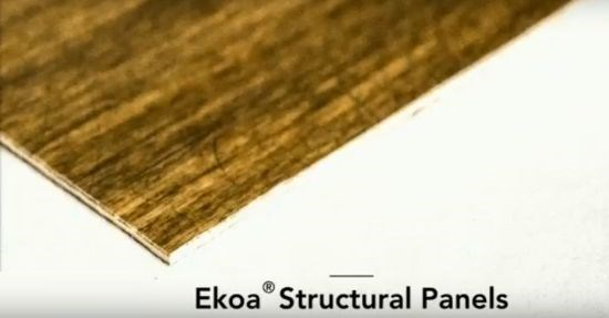 Ekoa TP flax fiber thermoplastic composite available as structural panels