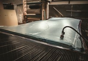 Shaping Concept AIA wood-carbon fiber panel using ADAPA adaptive mold at Curve Works