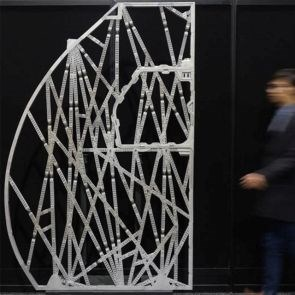Airbus bionic partition made using generative design and 3D printed metal