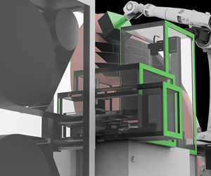 Cevotec SAMBA Multi system places reinforcements and core materials for automated composites production
