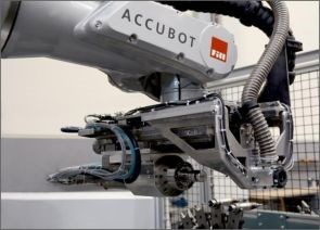 Fill Gesellschaft ACCUBOT versatile robot with end effector for drilling