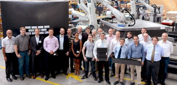 Fill Gesellschaft team and automated layup cell for LOWFLIP project