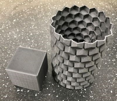 Shocker Composites and R&M International recycled carbon fiber demonstrated in 3D printing filament