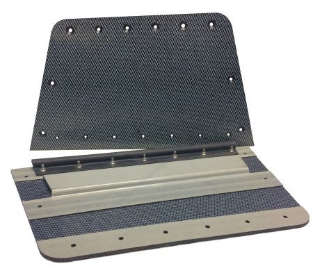 KVE Composites induction welded thermoplastic composite overhang panels for aircraft reduces tooling cost