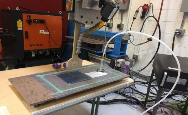 McNair Center development of induction welding under a vacuum bag for thermoplastic composite repair