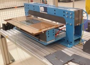 KVE Composites standard setup for induction welding thermoplastic composites