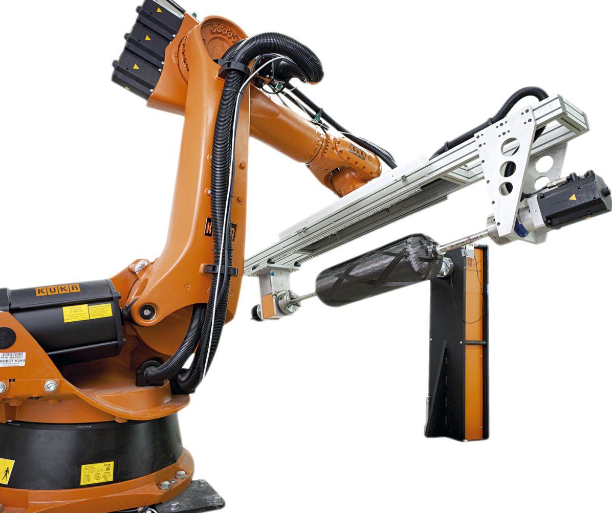 Robotic filament winding equipment developed by MF TECH