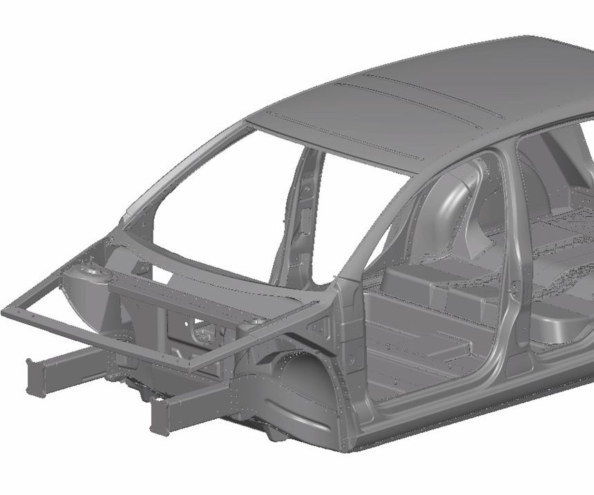composite and non-ferrous metal hybrid car body