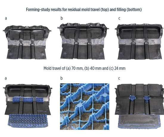 composite hybrid battery-electric vehicle load floor