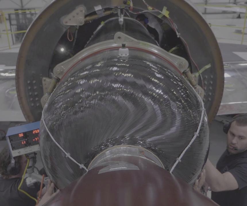 Pratt & Whitney engine installation