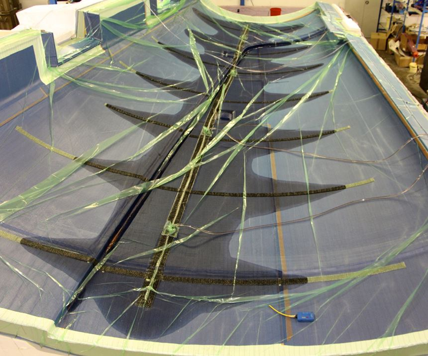 Vabo Composites resin infusion of composite yacht mast