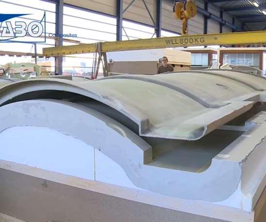 Vabo Composites composite yacht mast parts demolded