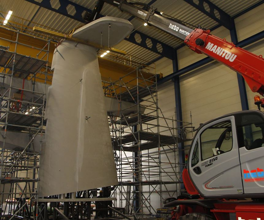 composite yacht mast assembly
