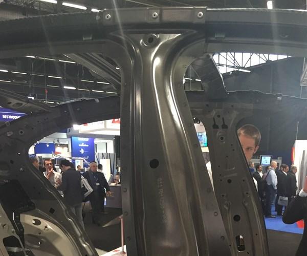 BMW 7 Series carbon fiber composite B pillar.