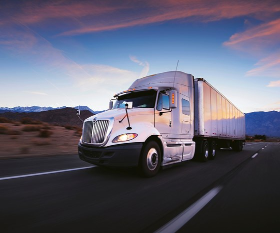 PolyOne's Polystrand thermoplastic composites for trucking applications.
