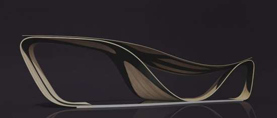 """The """"Sella Chair"""" made of high-performance wood-carbon composite developed using Altair's HyperWorks"""