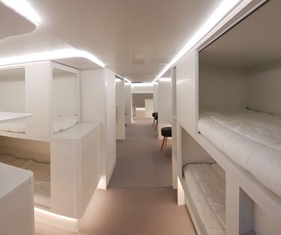 lower deck sleeping berth