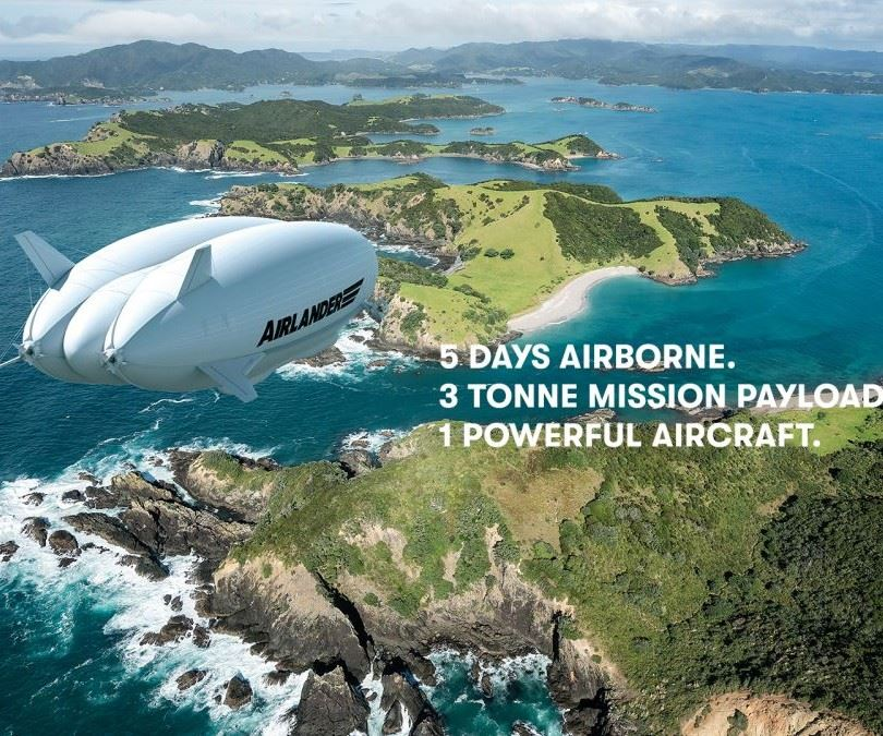 HAV Airlander 10 hybrid airship for luxury tourism