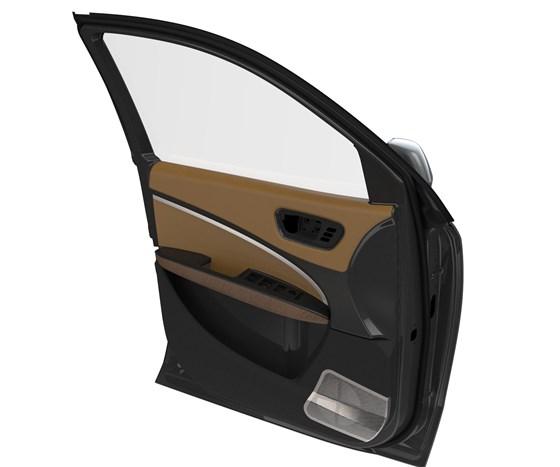 carbon fiber thermoplastic composite automobile door
