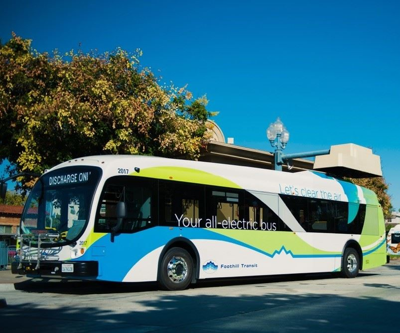 all-electric bus