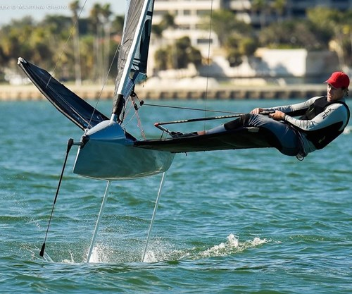 This foiling racer is crazy fast thanks to composites
