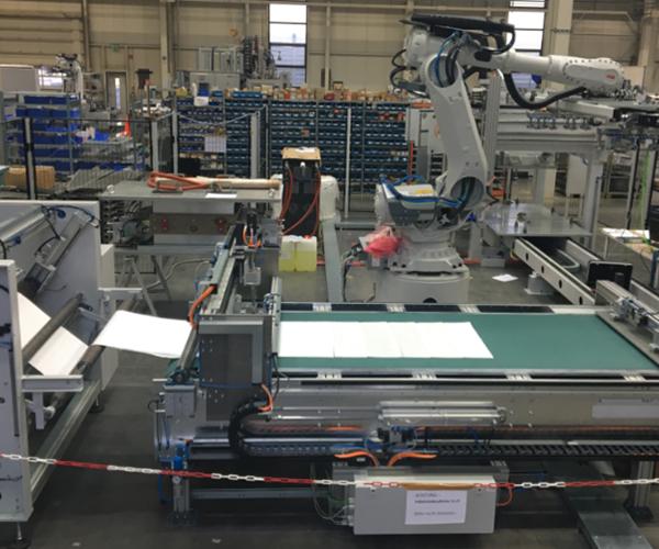 Schmidt & Heinzmann automated SMC blank cutting
