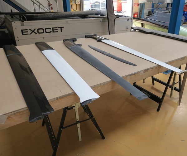 Maguire Boats racing foils for Exocet craft