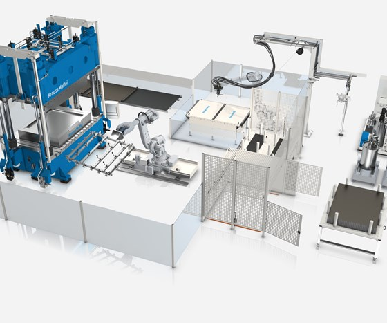 KraussMaffei Wetmolding production cell.