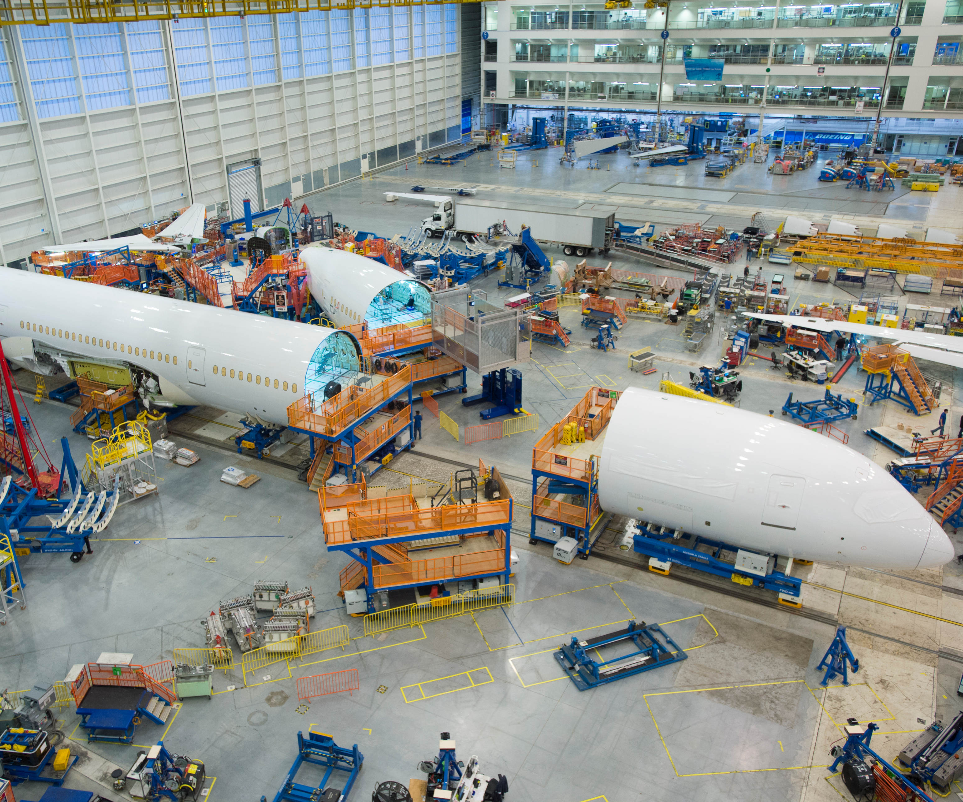Boeing 787 manufacturing Charleston, SC, US.