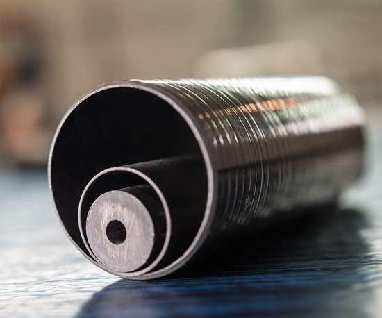 NTPT discontinuous carbon fiber tube