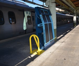 Plasan-manufacturedcomposite Amtrak ramp.