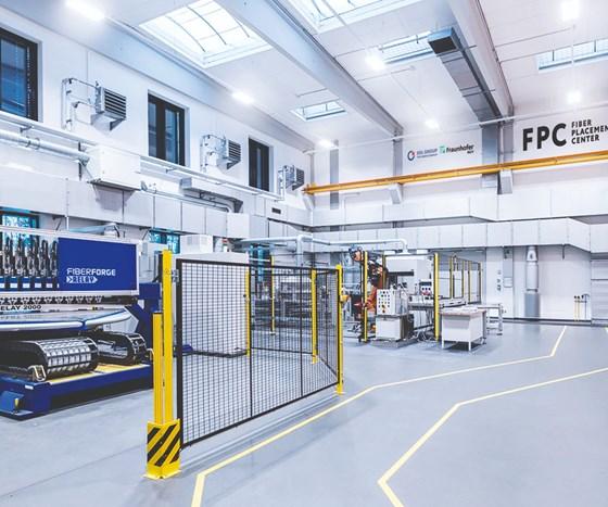 SGL/Fraunhofer fiber placement tech center.