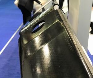 TenCate thermoplastic composite spar, JEC World 2018.