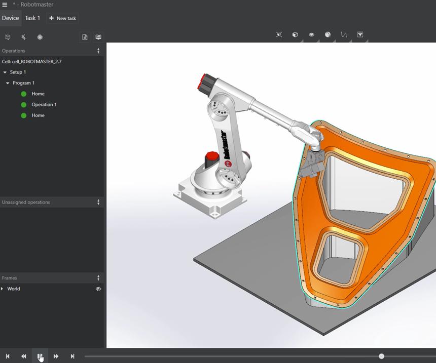 Robotmaster V7 composites machining screenshot
