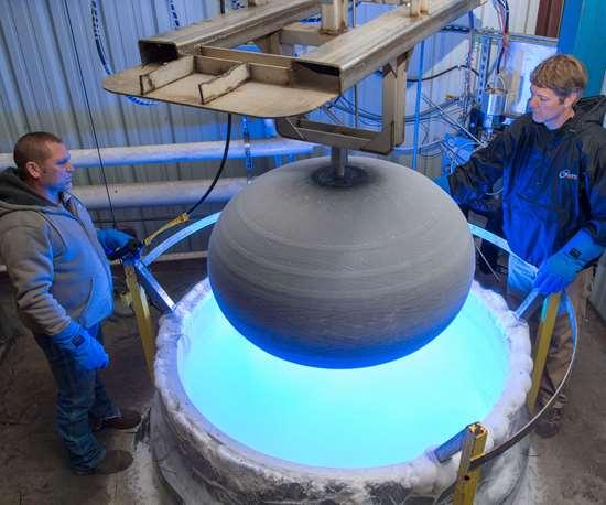 Cimarron Composites liquid nitrogen test