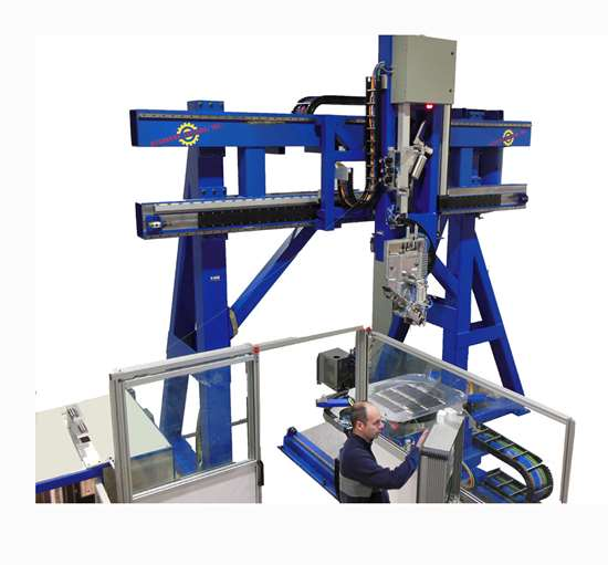 Accudyne Systems automated fiber placement machine.