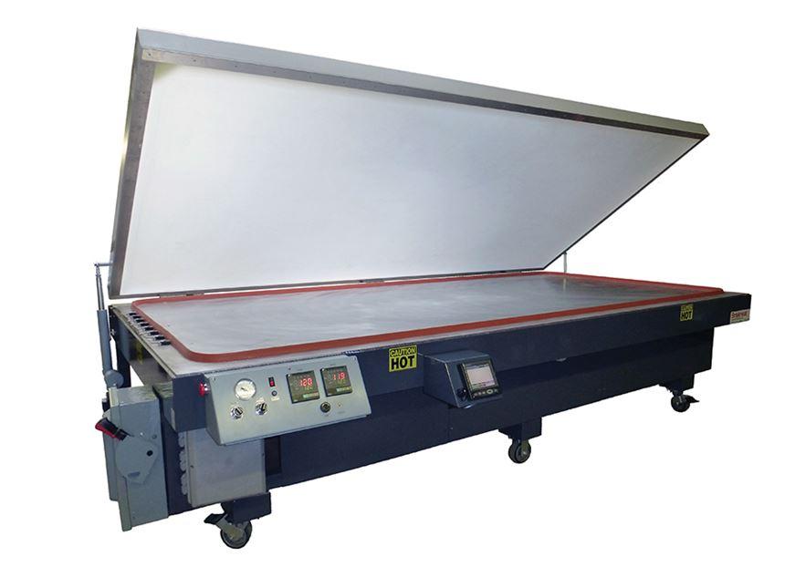 BriskHeat vacuum table.