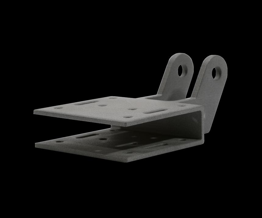 Part made via additive manufacturing using Hexcel's HexPEKK material.