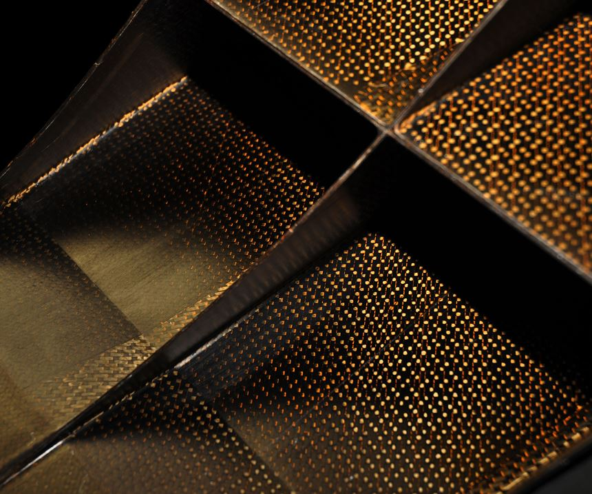 Matrix Composites carbon fiber spacer.