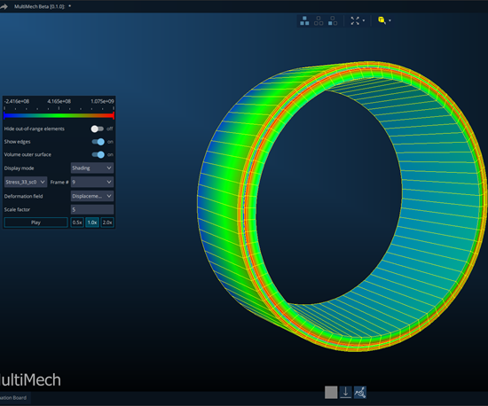 MultiMechanics' tube and pressure vessel optimization tool.