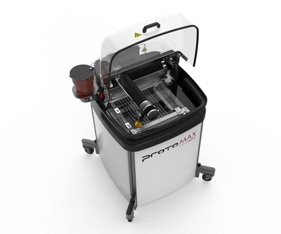 OMAX's ProtoMAX waterjet.