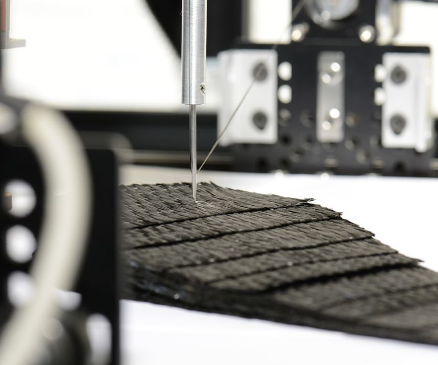 ACE nominee carbon fiber preforming with Z-axis reinforcement Seriforge
