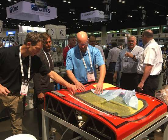 Closed Mold Alliance demonstration at CAMX.
