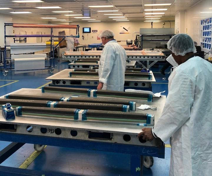 layup prior to hot drape forming at FBM