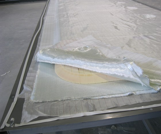 composite floor panel layup